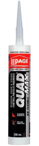 Lepage Quad Max Window & Door Sealant, White, 280-mL Product image