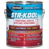 Gardner STA-KOOL Elastomeric Roof Coating, White, 3.4-L | Gardner | Canadian Tire