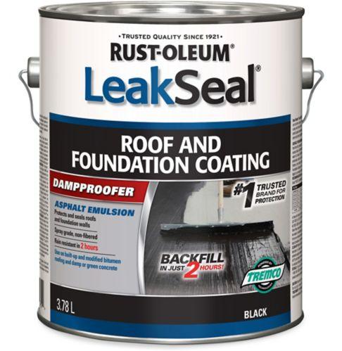 Rust-Oleum LeakSeal® Roof & Foundation Coating, 3.78-L