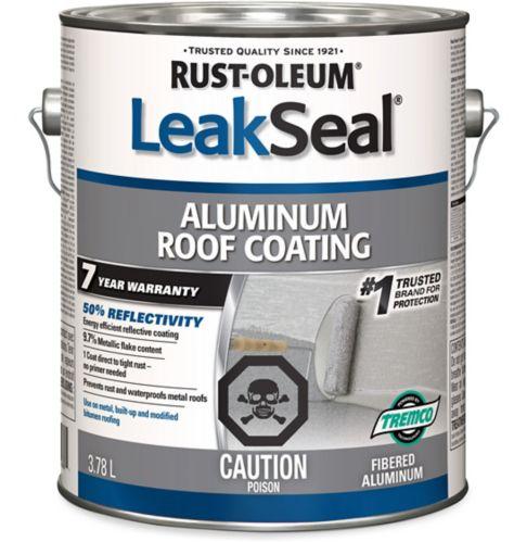Revêtement en aluminium de toit Rust-Oleum LeakSeal, 7ans, 3,78L Image de l'article