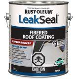Revêtement pour toits fibreux Rust-Oleum LeakSeal, noir, 3,78L | Rust-Oleumnull