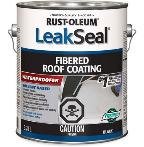 Revêtement pour toits fibreux Rust-Oleum LeakSeal, noir, 3,78L Image de l'article