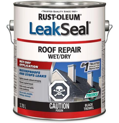 Rust-Oleum LeakSeal® Roof Repair Wet/Dry, Black, 3.78-L Product image