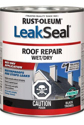 Rust-Oleum LeakSeal® Roof Repair Wet/Dry, Black, 946-mL Product image
