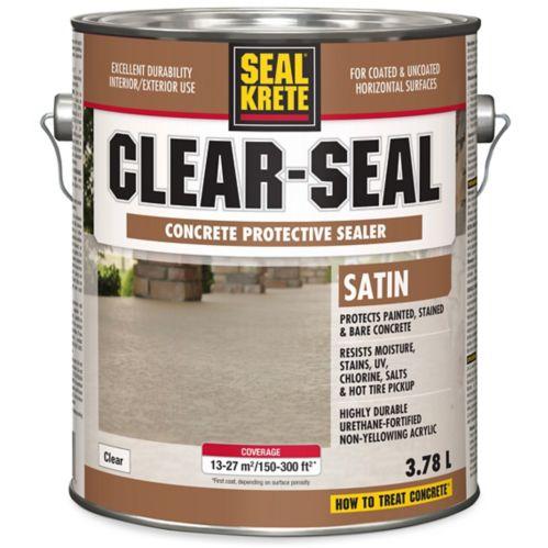 Scellant protecteur pour béton SealKrete Clear-Seal, satiné, 3,78L Image de l'article