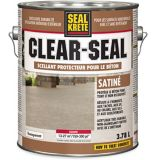 Seal-Krete Clear-Seal Concrete Protective Sealer, Clear Satin, 3.78-L | Rust-Oleumnull