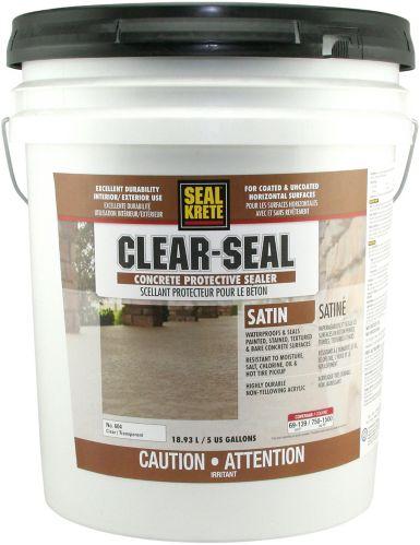 Scellant protecteur pour béton SealKrete Clear-Seal, satiné, 18,9L Image de l'article
