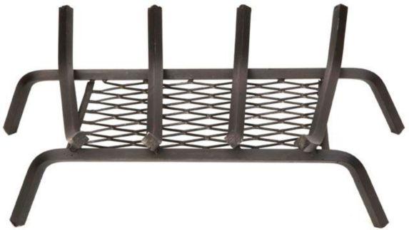 Grille en fer forgé de foyer avec retenue de braise, 18po