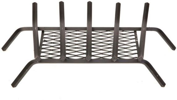 Grille en fer forgé de foyer avec retenue de braise, 24po Image de l'article