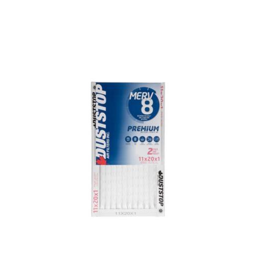 Duststop MERV 8 Premium Filter, 11-in x 20-in x 1-in, 2-pk Product image