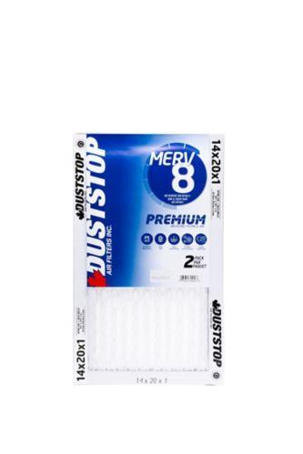 Duststop MERV 8 Premium Filter, 14-in x 20-in x 1-in, 2-pk Product image
