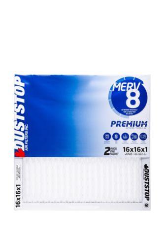 Duststop MERV 8 Premium Filter, 16-in x 16-in x 1-in, 2-pk Product image