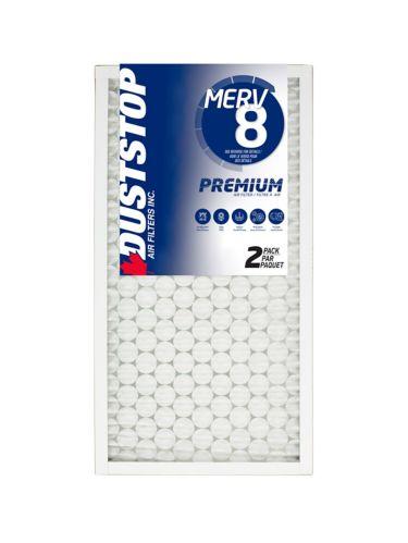 Duststop MERV 8 Premium Filter, 15-in x 28-in x 1-in, 2-pk Product image