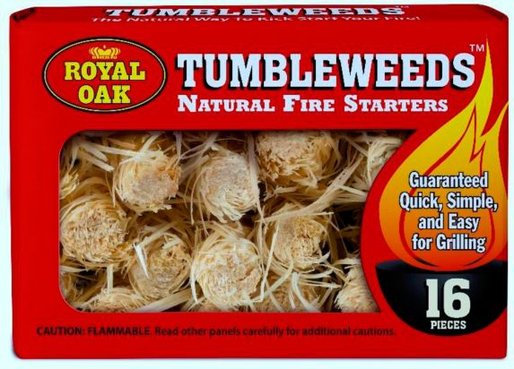 Allume-feux naturel Royal Oak Tumbleweed, paq. 16