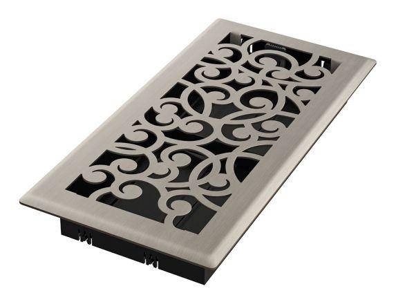 Grille de ventilation Imperial Wonderland, nickel brossé, 4 x 10 po Image de l'article