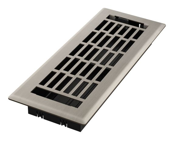 Grille de ventilation Imperial Geneva, nickel brossé, 3 x 10 po Image de l'article