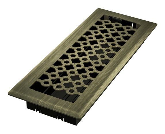 Imperial San Francisco Floor Register, Vintage Brass, 3-in x 10-in Product image