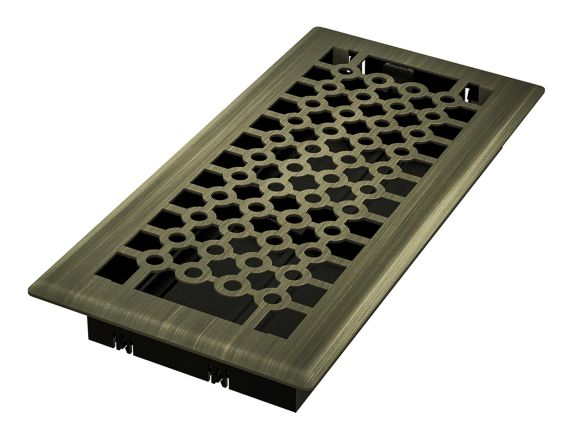 Imperial San Francisco Floor Register, Vintage Brass, 4-in x 10-in Product image