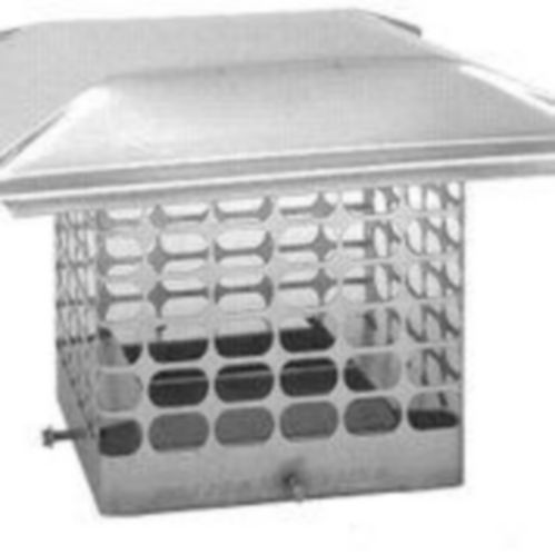 DuraVent SS 3/4-in Chimney Cap, 7-in x 7-in/9-in x 9-in