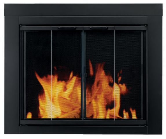 Glassdoor for Fireplace, Black