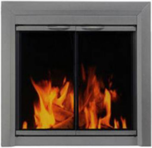 Glass Door Fire Screen for Wood-Burning Fireplaces