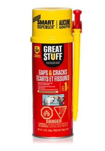 Great Stuff Gaps & Cracks Foam Sealant with Smart Dispenser, 340-g