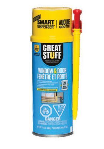 Mousse d'étanchéité isolante pour fenêtre et porte Great Stuff Aucune Goutte, 340 g Image de l'article
