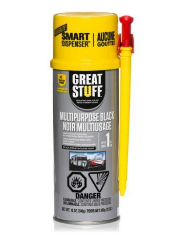 Great Stuff Multi-Purpose Black Foam Sealant with Smart Dispenser, 340-g Product image