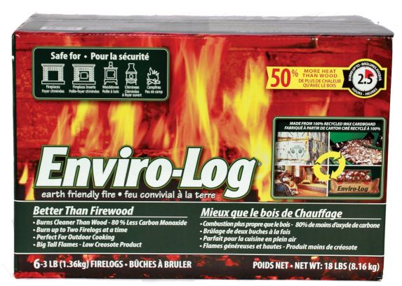 Bûches Enviro-Log, 3 lb, paq. 6