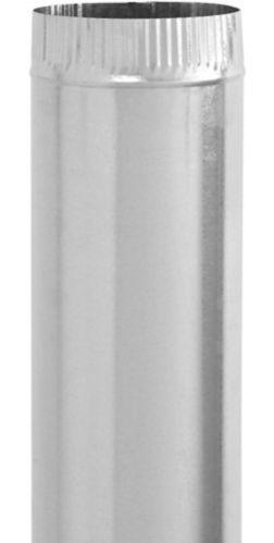 Imperial 30 Gauge Pipe, Galvanized, 4 x 30-in