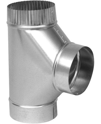 Imperial 30 Gauge Full Flow Tee, Galvanized, 5-in Product image