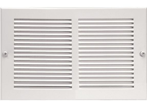 Imperial Sidewall Grille, White, 14 x 6-in