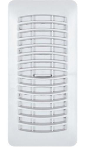 Registre de plancher Imperial, plastique, blanc, 3 x 10 po Image de l'article