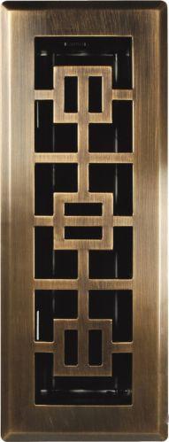 Registre de plancher oriental en laiton patiné, 3 x 10 po Image de l'article