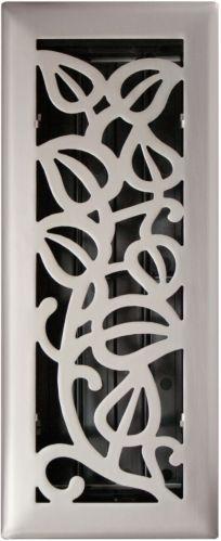 Registre de plancher, vigne, nickel satiné, 3 x 10 po Image de l'article