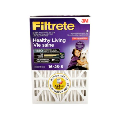 3M™ Filtrete™ Healthy Living Ultra Allergen Deep Pleat Filter, MPR 1550 Product image