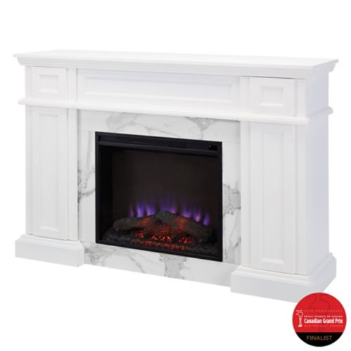 CANVAS Marseille Fireplace, White