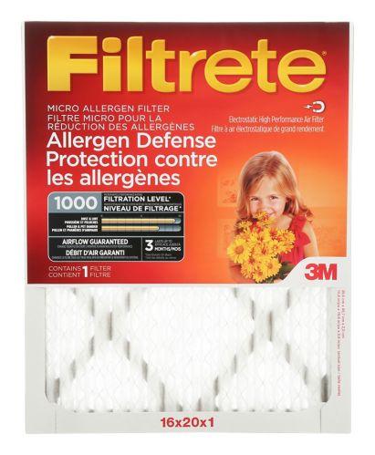 Filtre micro pour réduction des allergènes 3M Filtrete, protection contre les allergènes, MPR 1000 Image de l'article
