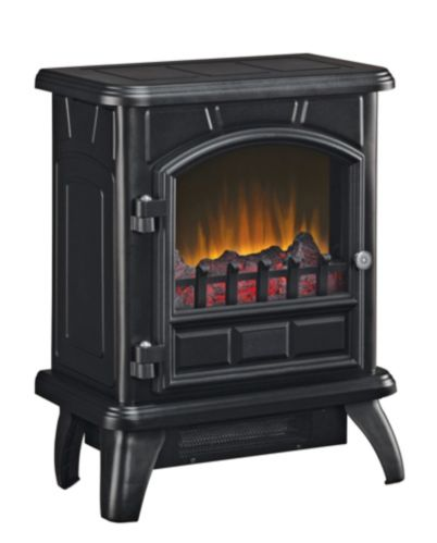 Metal Electric Stove With Black Finish, 17-in