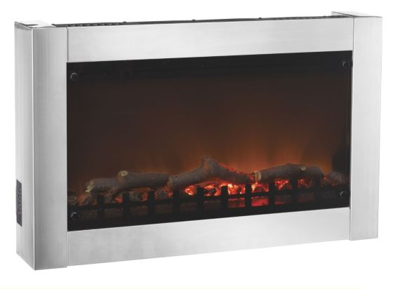 Wall Mounted Stainless Steel Madrid Fireplace Product image