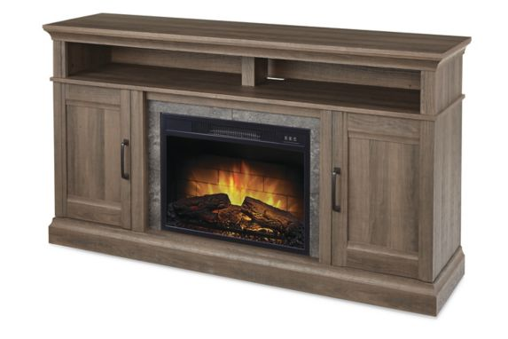 CANVAS Abbotsford Media Console Electric Fireplace, 60-in