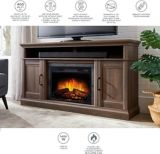 CANVAS Abbotsford Media Console Electric Fireplace, 60-in | CANVASnull