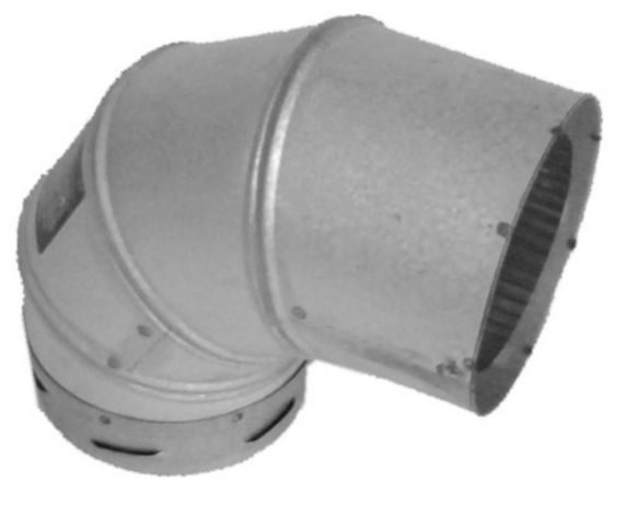 Stove Pellet Elbow Pipe, 4 x 90-in Product image