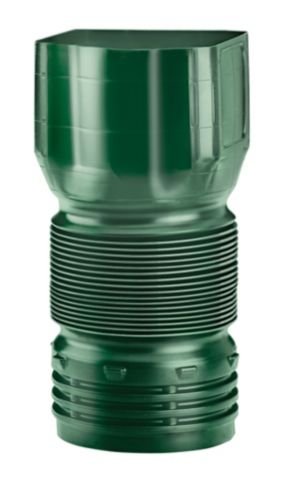Mole Pipe Twist and Seal Downspout Adaptor with Counter Clockwise Threads, 3 x 4-in