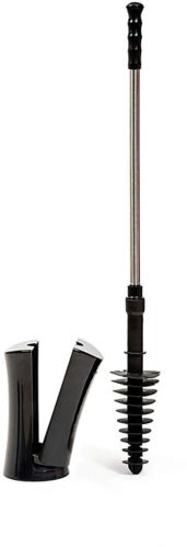 ToiletShroom® Toilet Plunger, Black Product image
