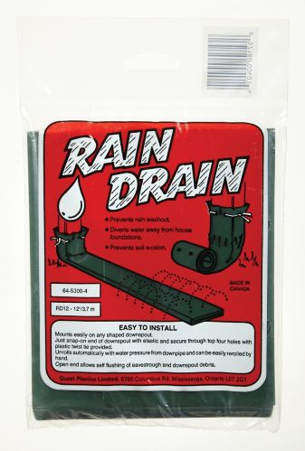 Downspout Rain Drain, Green, 12-ft Product image