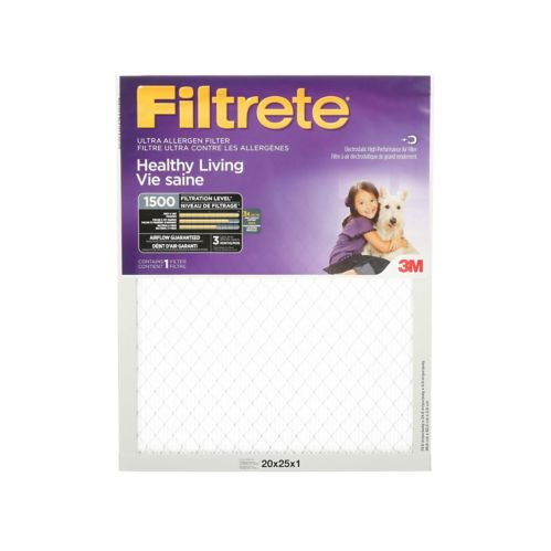 3M™ Filtrete™ Healthy Living Ultra Allergen Filter, MPR 1500, 16-in x 25-in x 1-in Product image