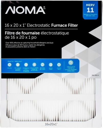 NOMA MERV 11 Furnace Filter, 16x20x1-in Product image