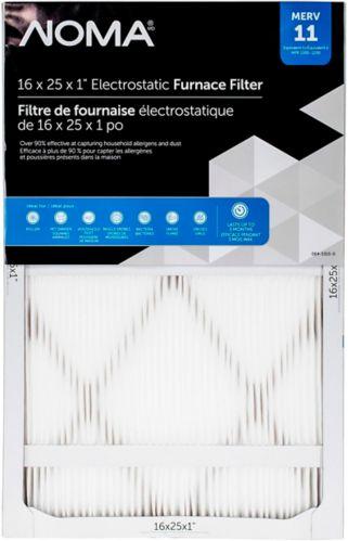 Filtre à fournaise NOMA MERV 11, 16 po x 25 po x 1 po Image de l'article