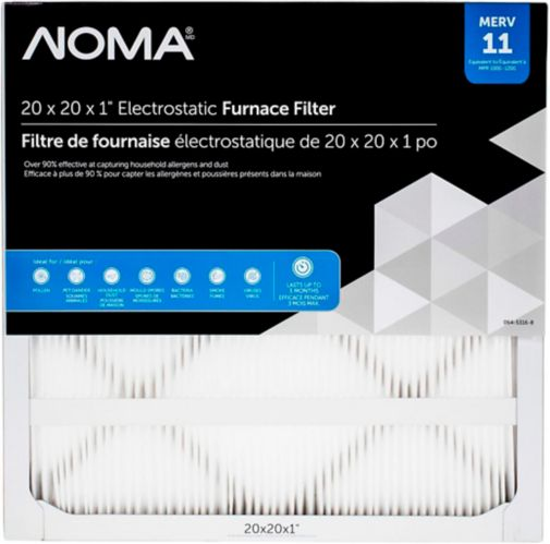 NOMA MERV 11 Furnace Filter, 20x20x1-in Product image